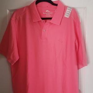 Tommy Bahama 🐬 Pink Polo Shirt